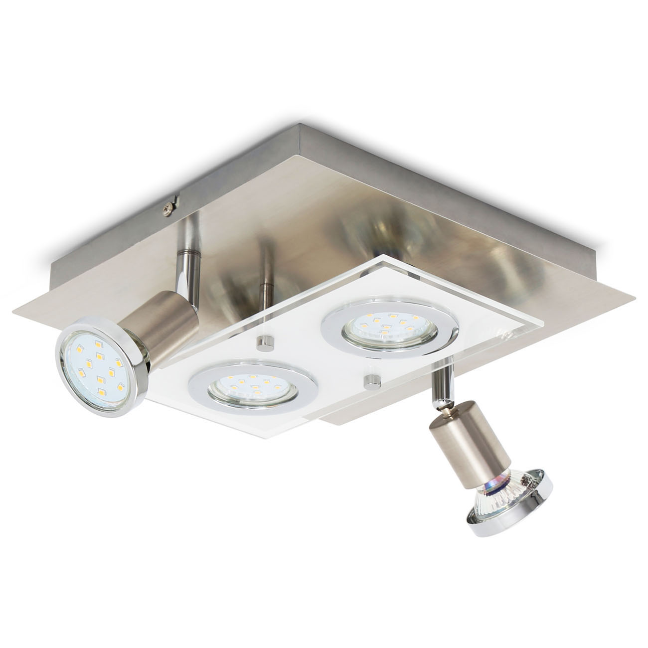 LED Kombi Deckenleuchte Spotleuchte 4-flammig  - 1