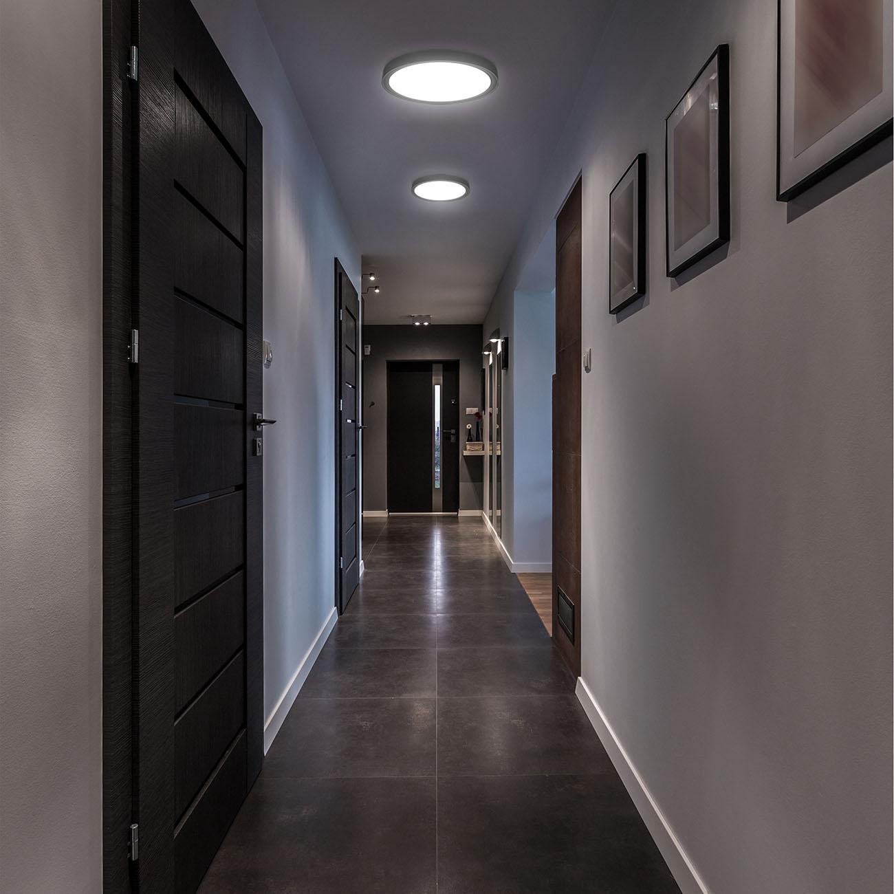 LED Deckenlampe neutralweiß rund schwarz - 7