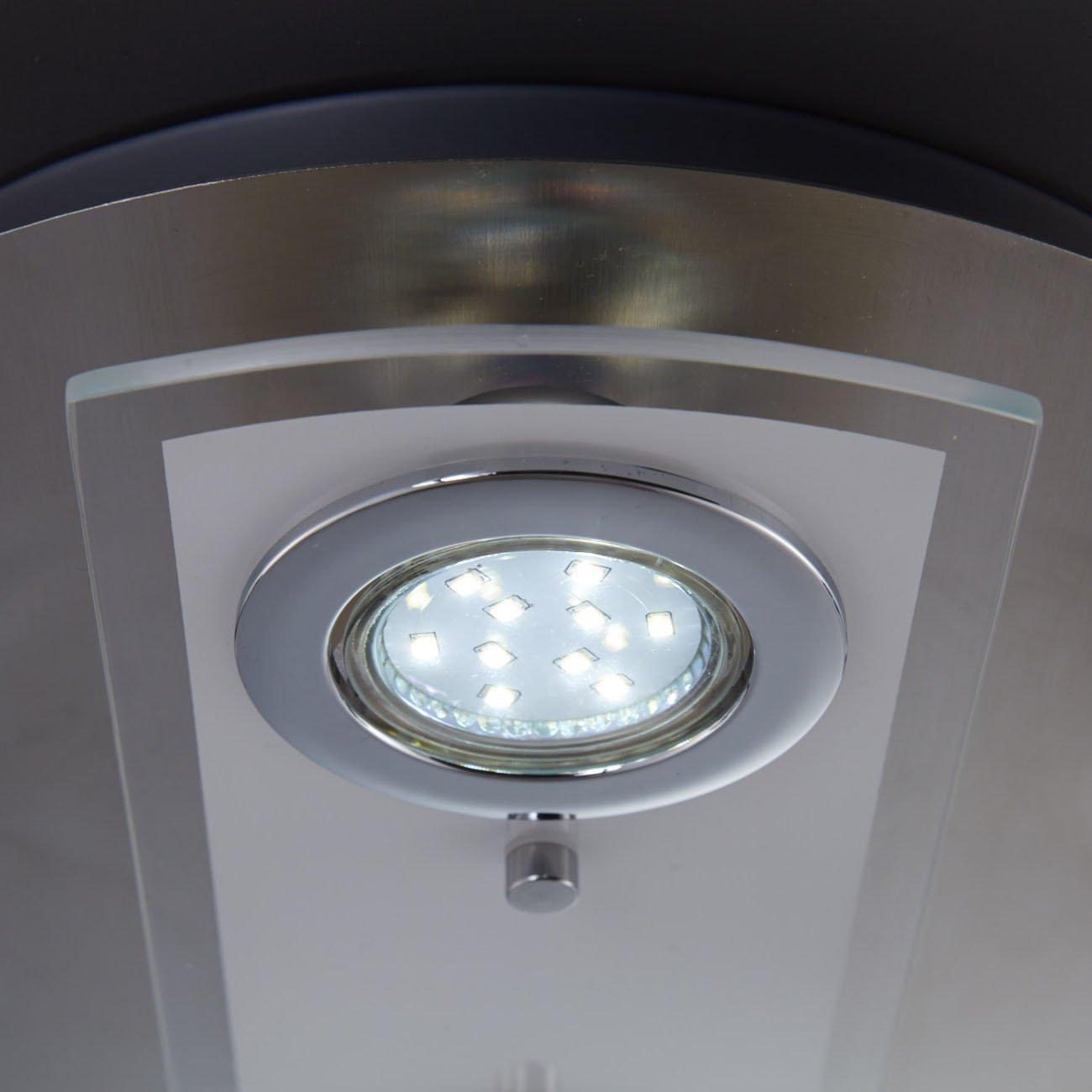LED Kombi Deckenleuchte Spotleuchte 4-flammig rund - 6