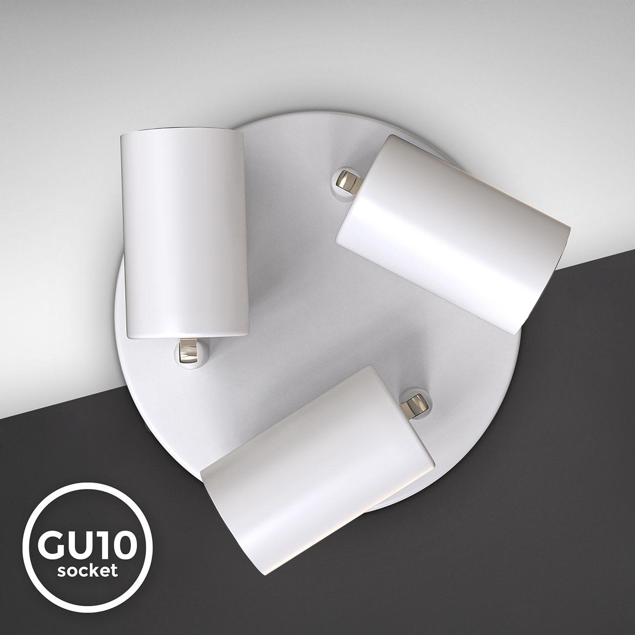 Deckenstrahler Deckenspot 3-flammig schwenkbar weiß GU10 - 6
