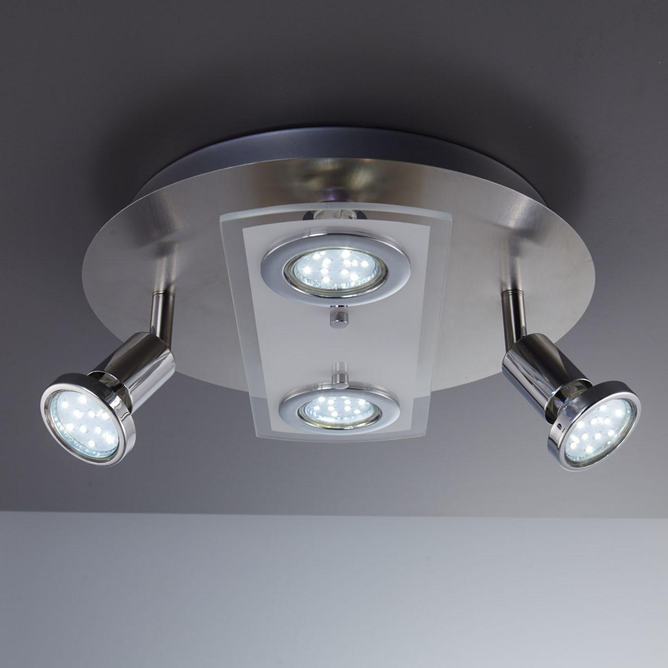 LED Kombi Deckenleuchte Spotleuchte 4-flammig rund - 5