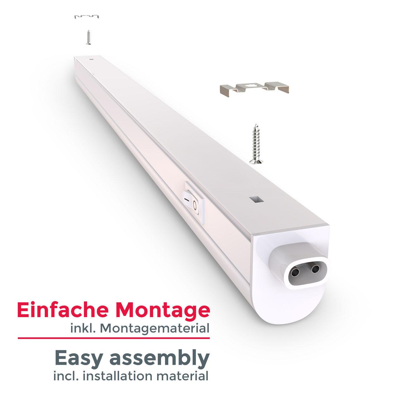 LED Unterbauleuchte mit Verbindungskabel weiß M - 4