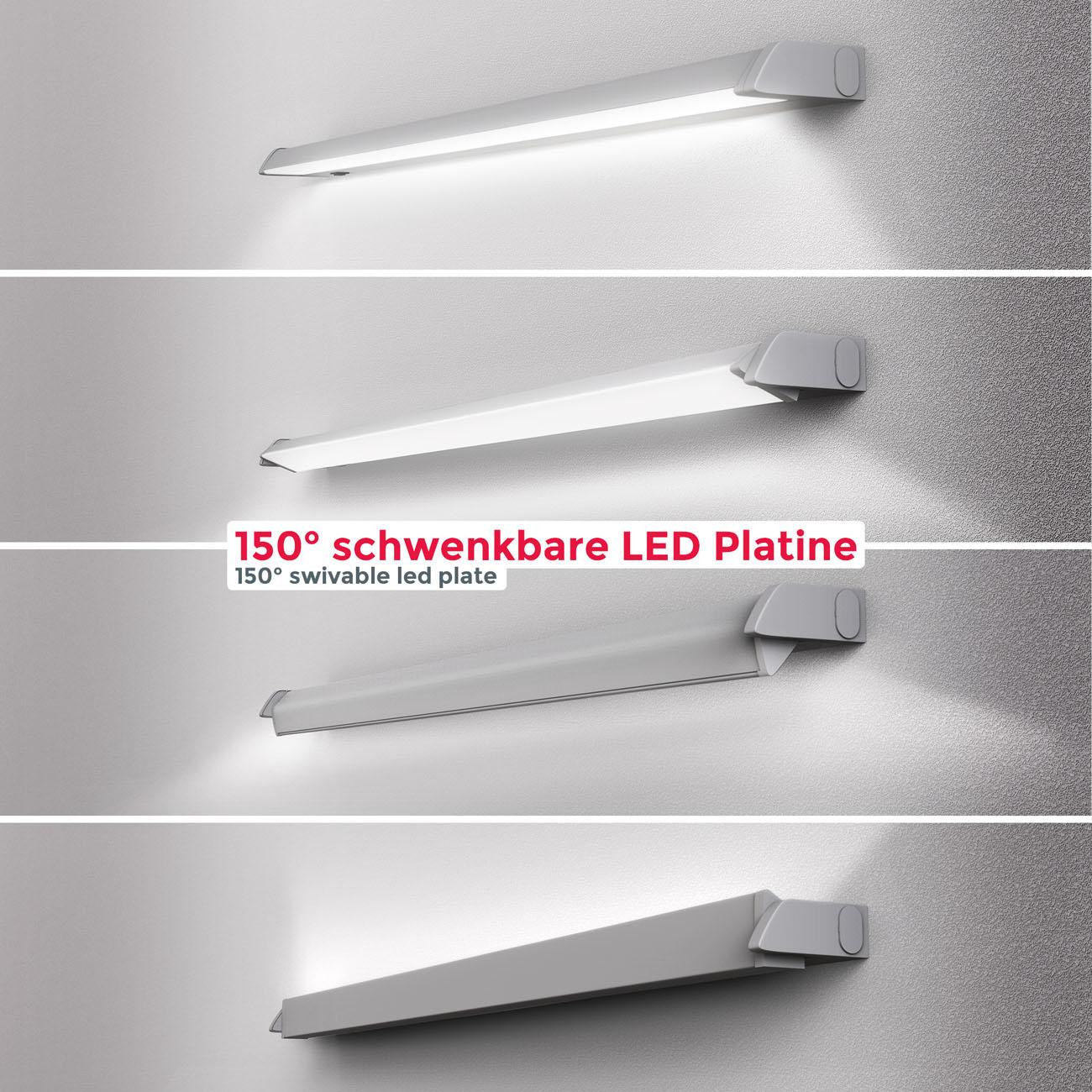 LED CCT Lichtleiste Unterschrankleuchte silber - 5