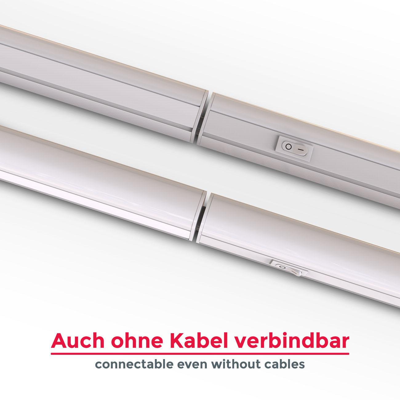 LED Unterbauleuchte mit Verbindungskabel weiß M - 8