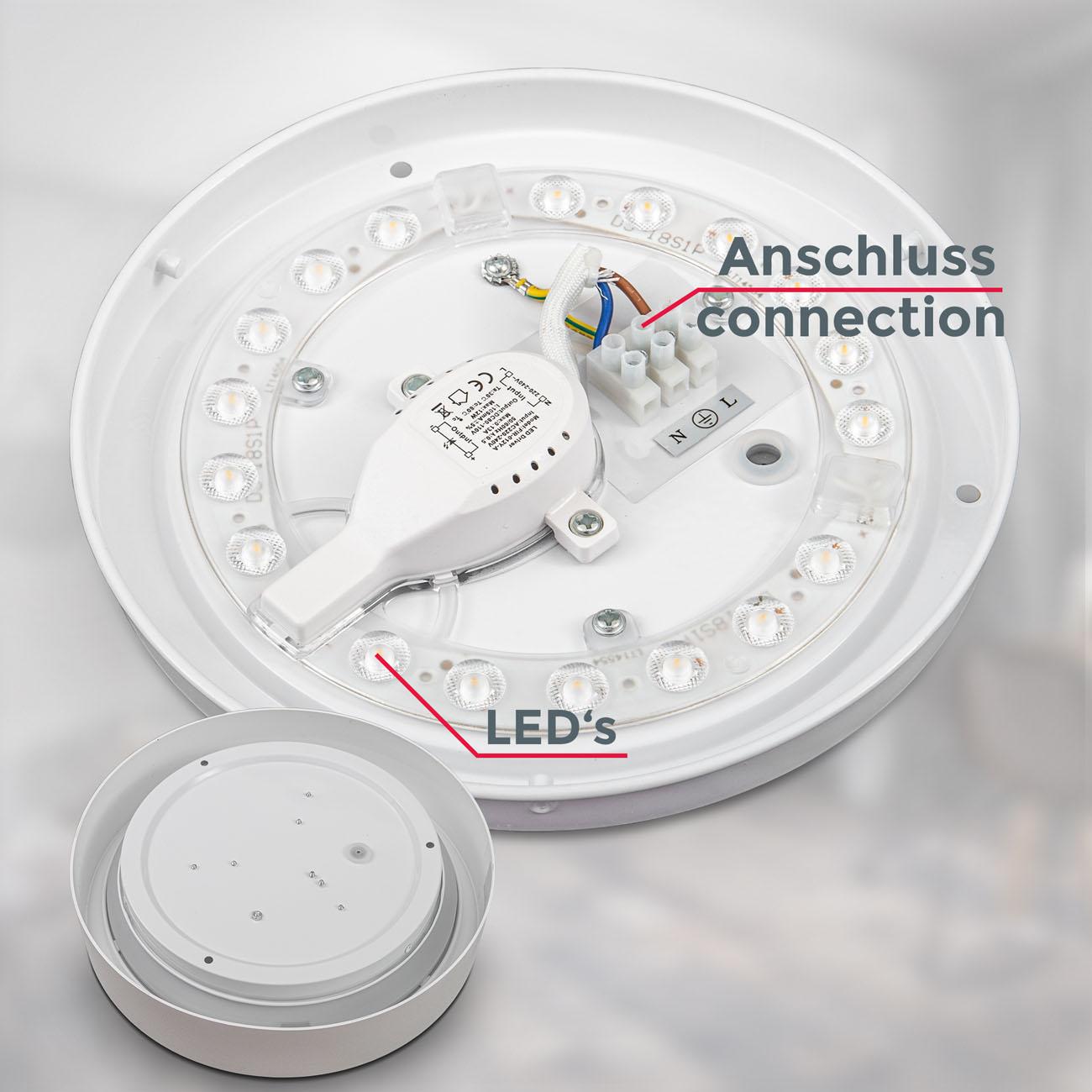 LED Deckenleuchte mit Sternendekor Ø 25 cm weiß-matt - 4