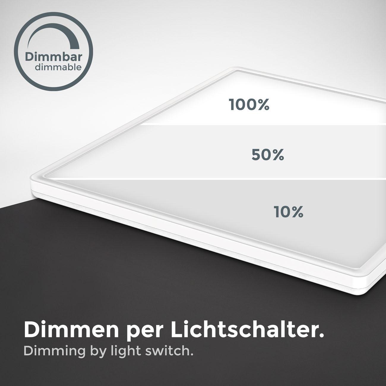 LED Panel mit Backlight-Effekt ultra-flach weiß XL - 6