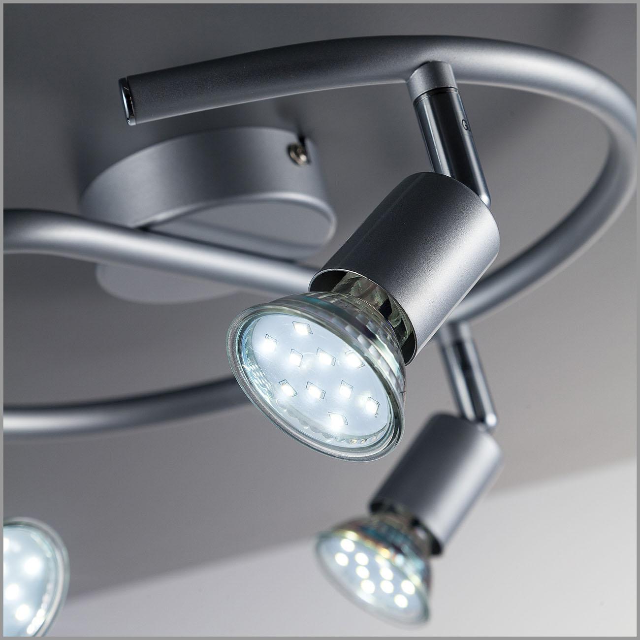 LED Deckenstrahler Deckenspot 3-flammig rund - 6