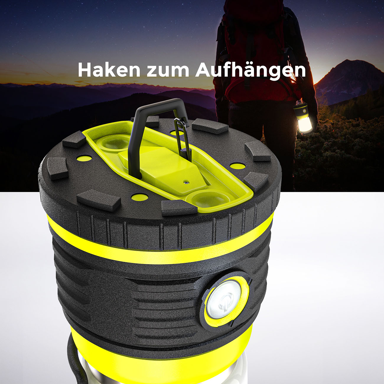 LED Outdoor Campingleuchte mit Tragegriff - 5