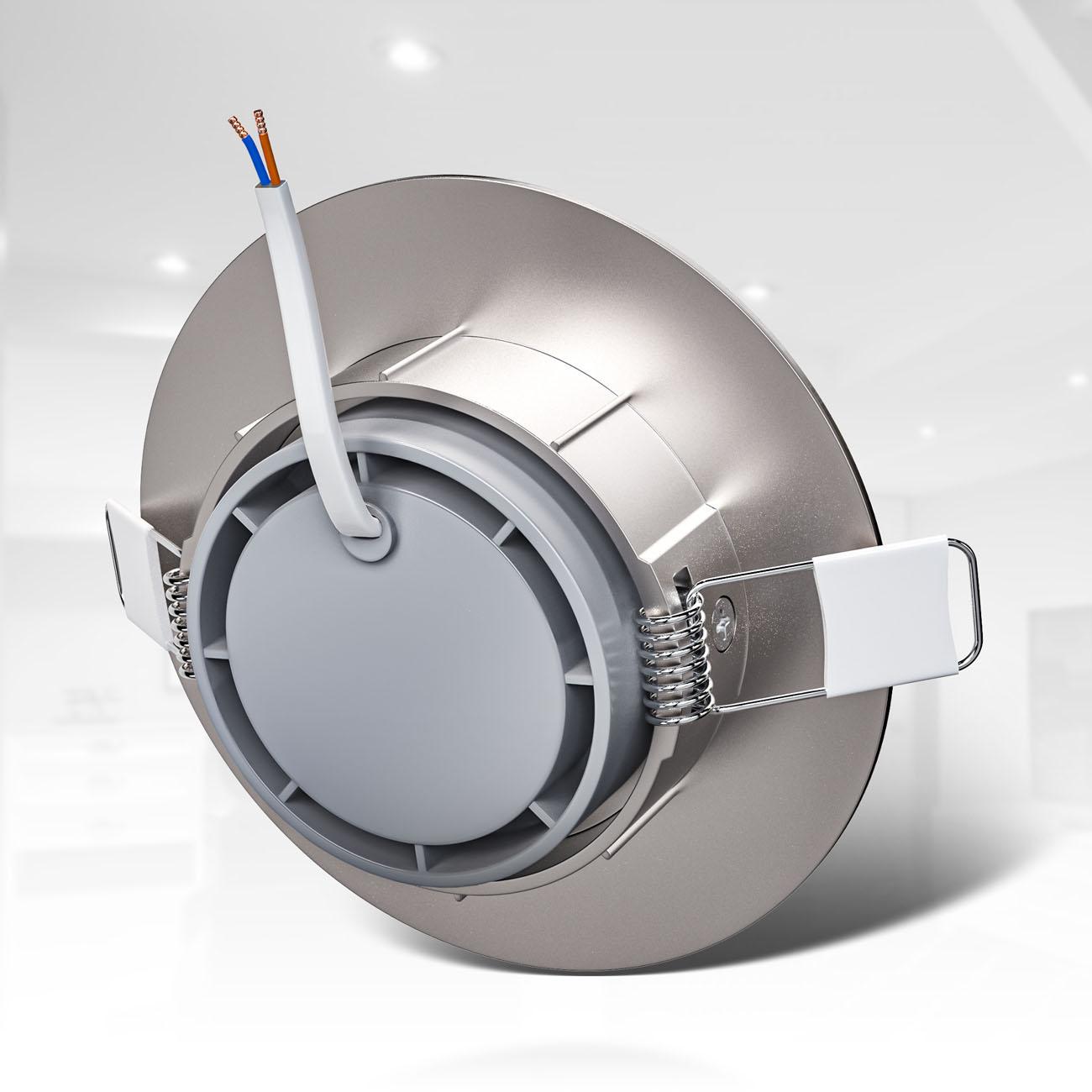 LED Einbaustrahler | Einbauleuchte 3er SET | ultra flach 5W schwenkbar dimmbar - 5