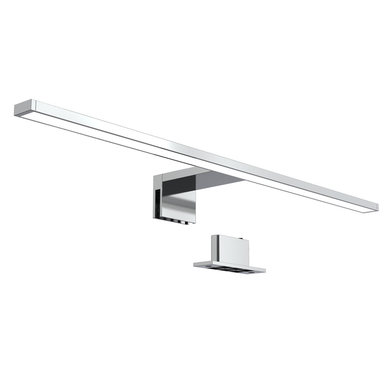 LED Spiegelleuchte Badlampe IP44 neutral-weiß M chrom