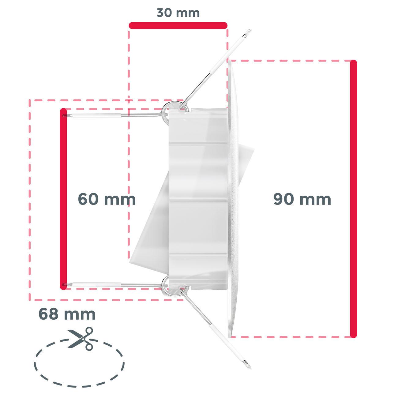 LED Einbaustrahler | Einbauleuchte 6er SET | ultra flach 5W schwenkbar weiß - 6