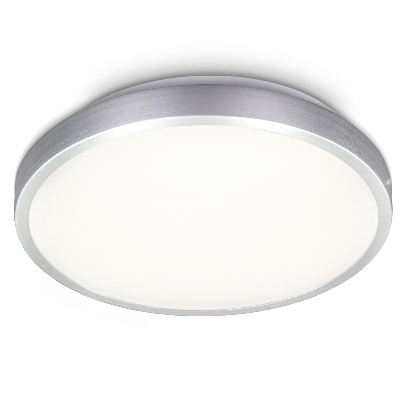 LED Deckenleuchte in Titanoptik rund