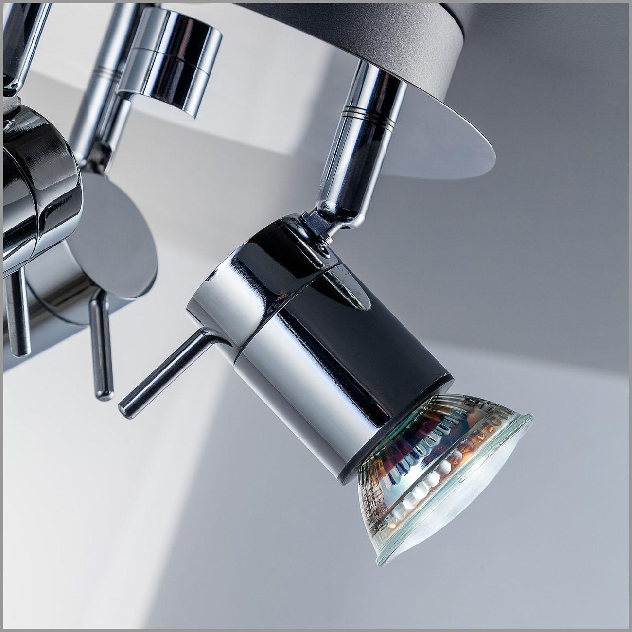 LED Deckenleuchte Badleuchte 3-flammig IPP44 glänzend - 6