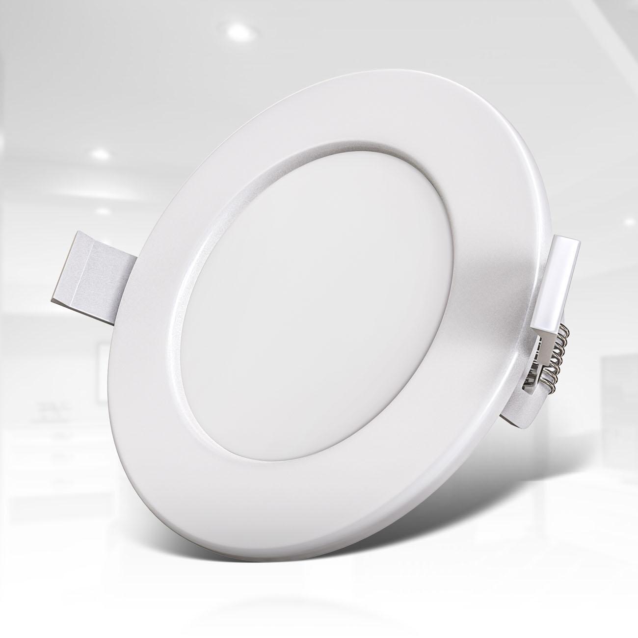 LED Einbaustrahler | Bad Einbauleuchte 6er SET | ultra flach 6W IP44 dimmbar - 4