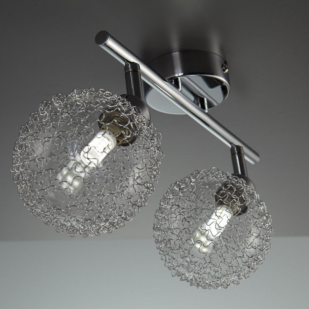 LED Design Deckenleuchte mit Glaskugeln 2-flammig - 3