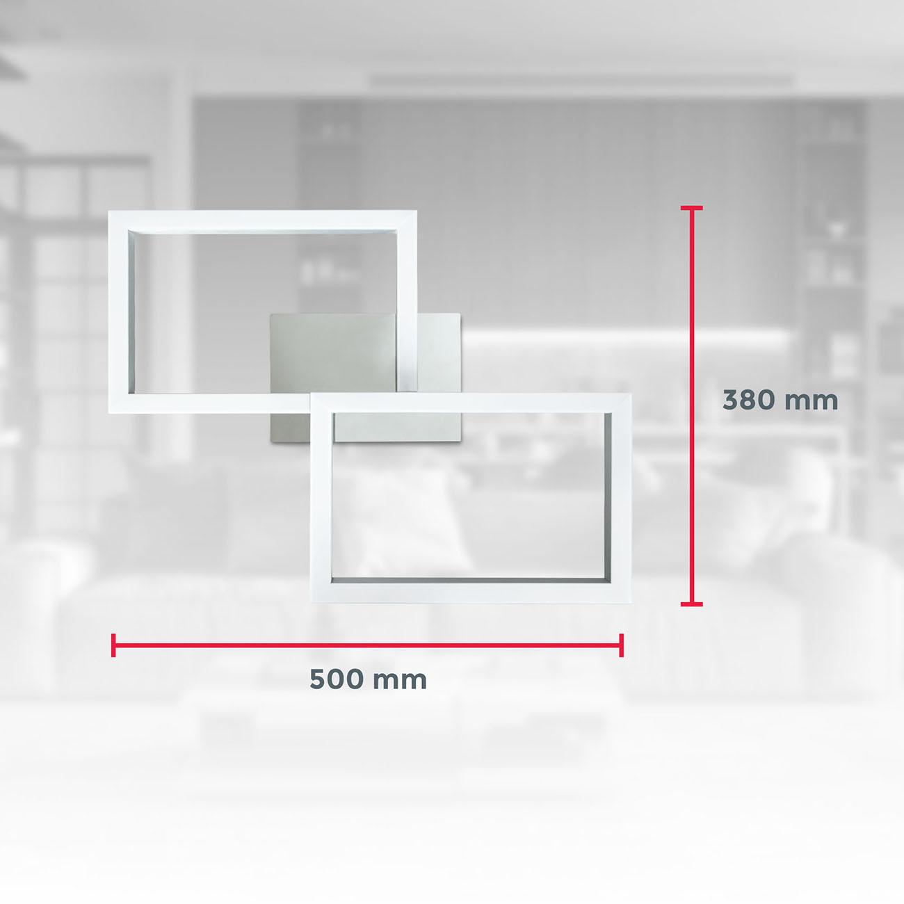 CCT RGB LED Frame Deckenleuchte schwenkbar 1-flammig mit Timer - 8