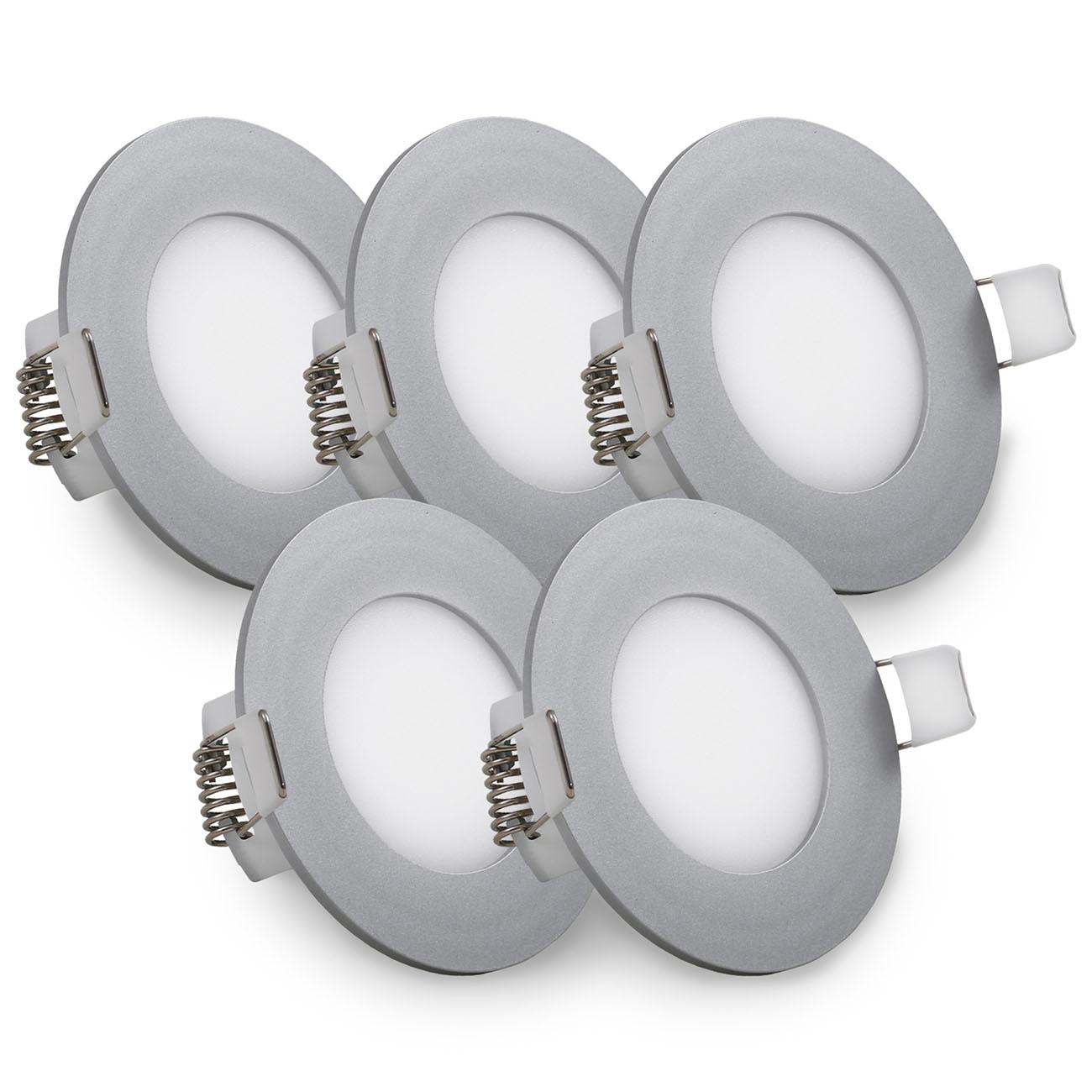 LED Einbaustrahler | Einbauleuchte 5er SET | ultra flach 5W - 3