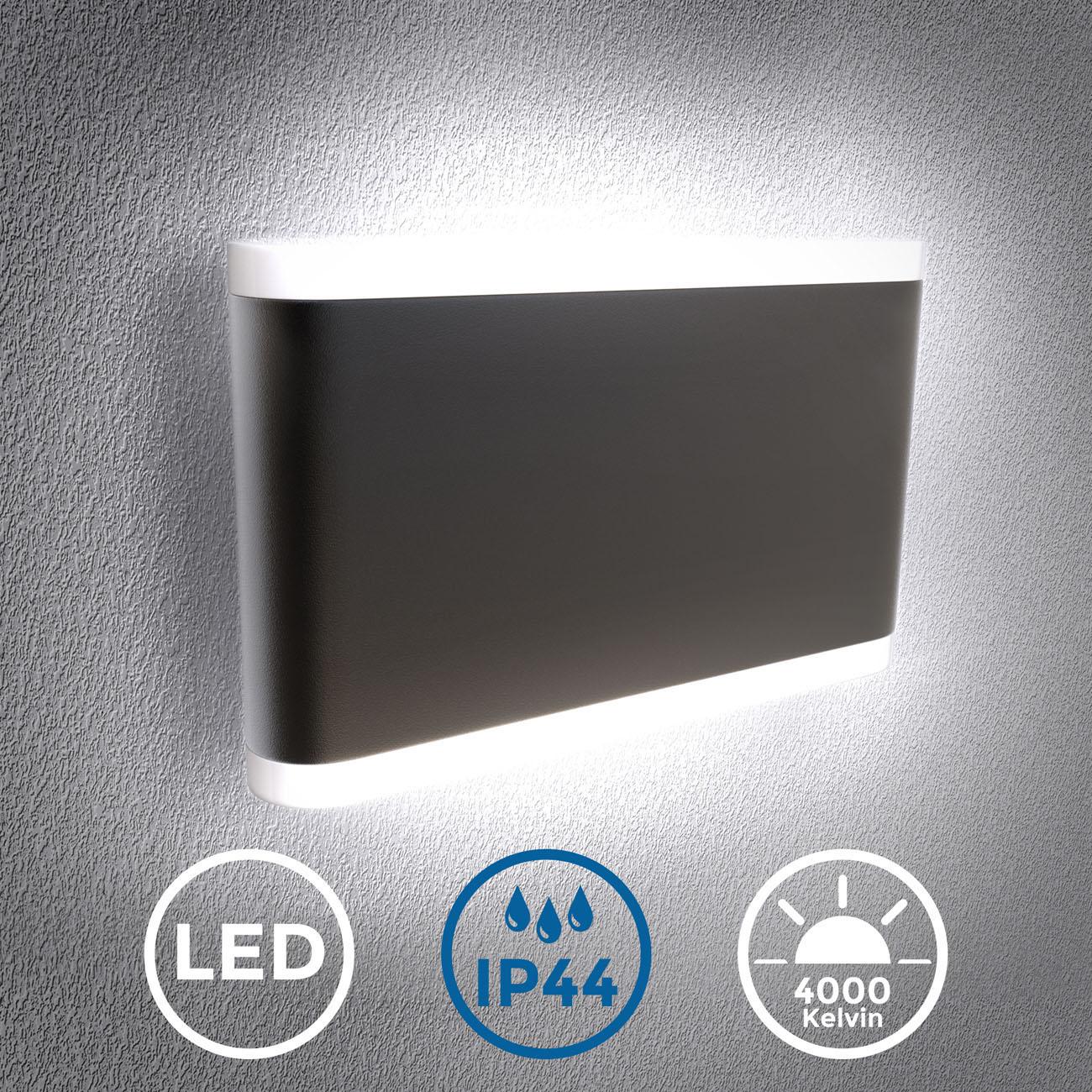 LED Außenleuchte 2-flammig schwarz IP44 - 3