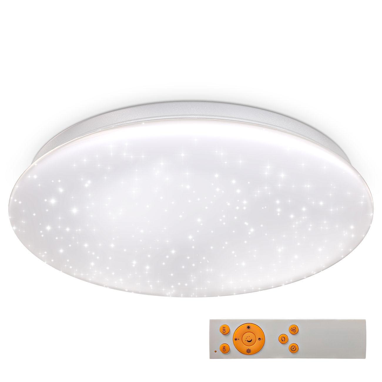 CCT LED Deckenleuchte Sternenhimmel weiß
