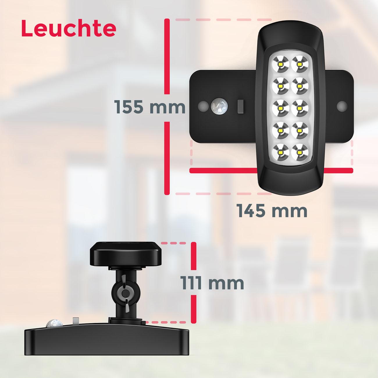 LED Außenleuchte mit Sensor Solar schwarz - 7