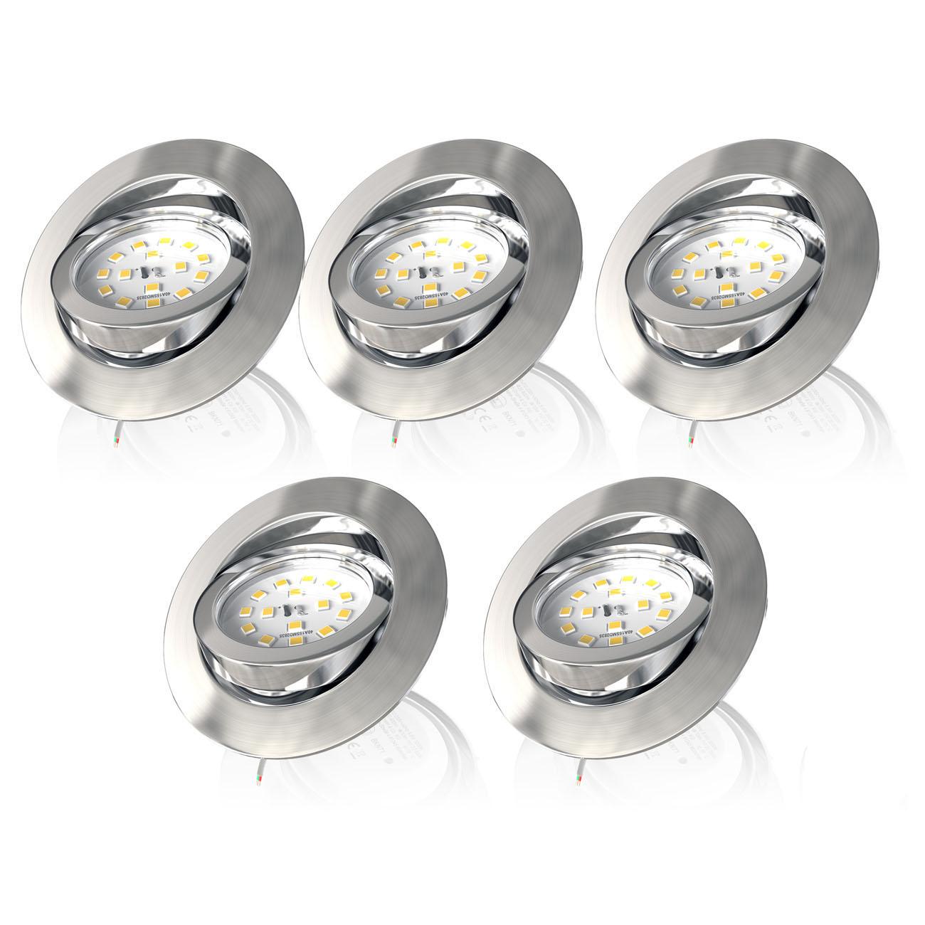 LED Einbaustrahler | Einbauleuchte 5er SET | 5,5W Stufendimmer schwenkbar - 3