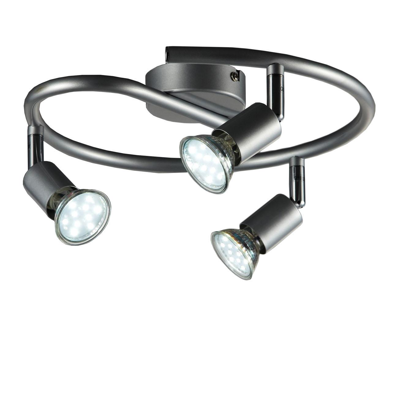 LED Deckenstrahler Deckenspot 3-flammig rund - 1
