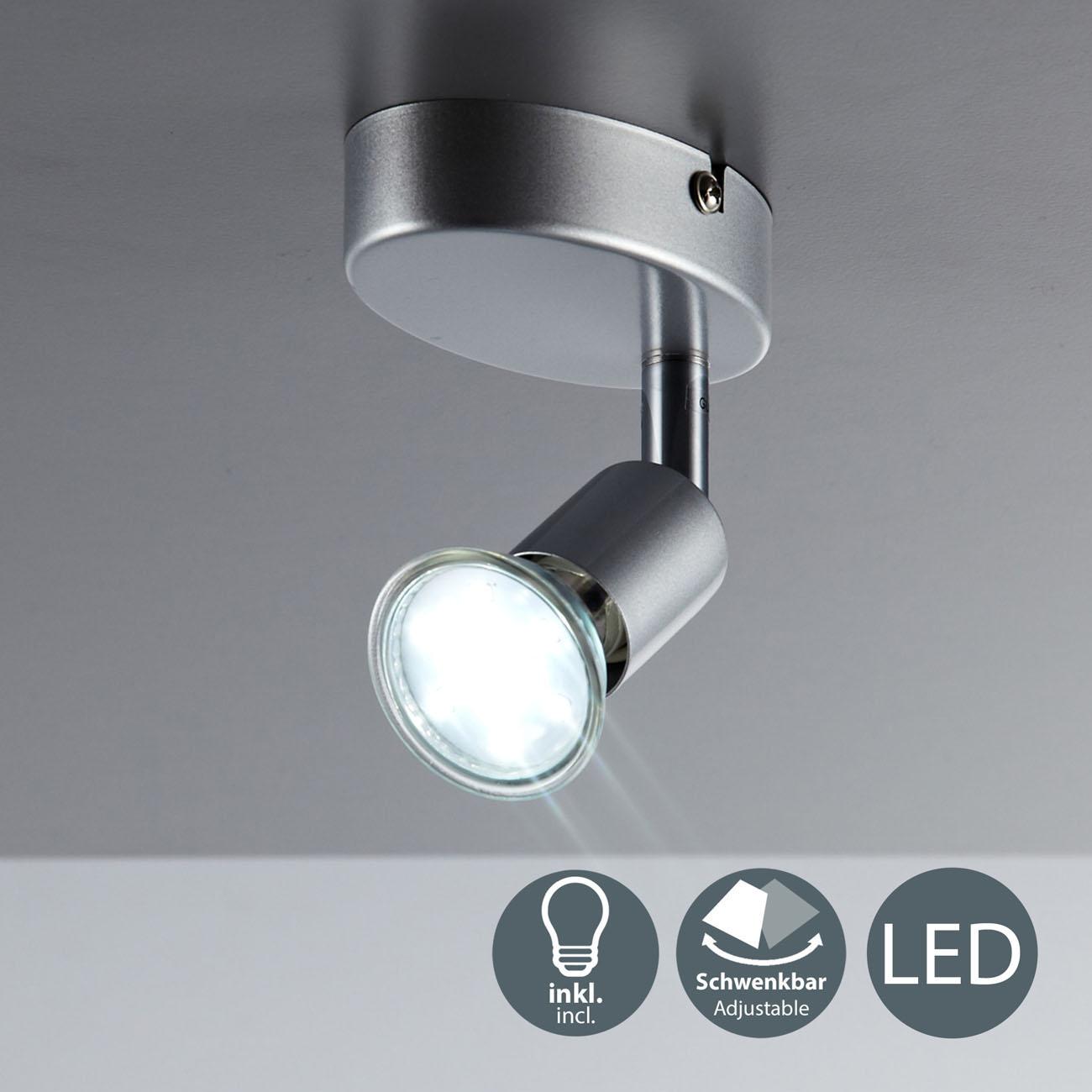 LED Deckenstrahler Deckenspot 1-flammig matt-nickel - 3
