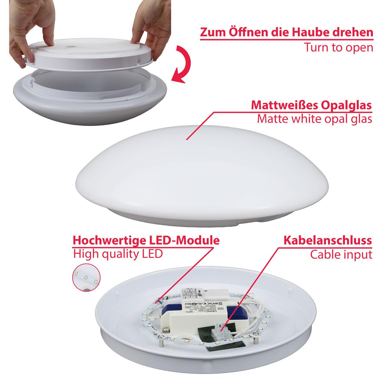 LED Deckenleuchte Badlampe mit Sensor  - 4