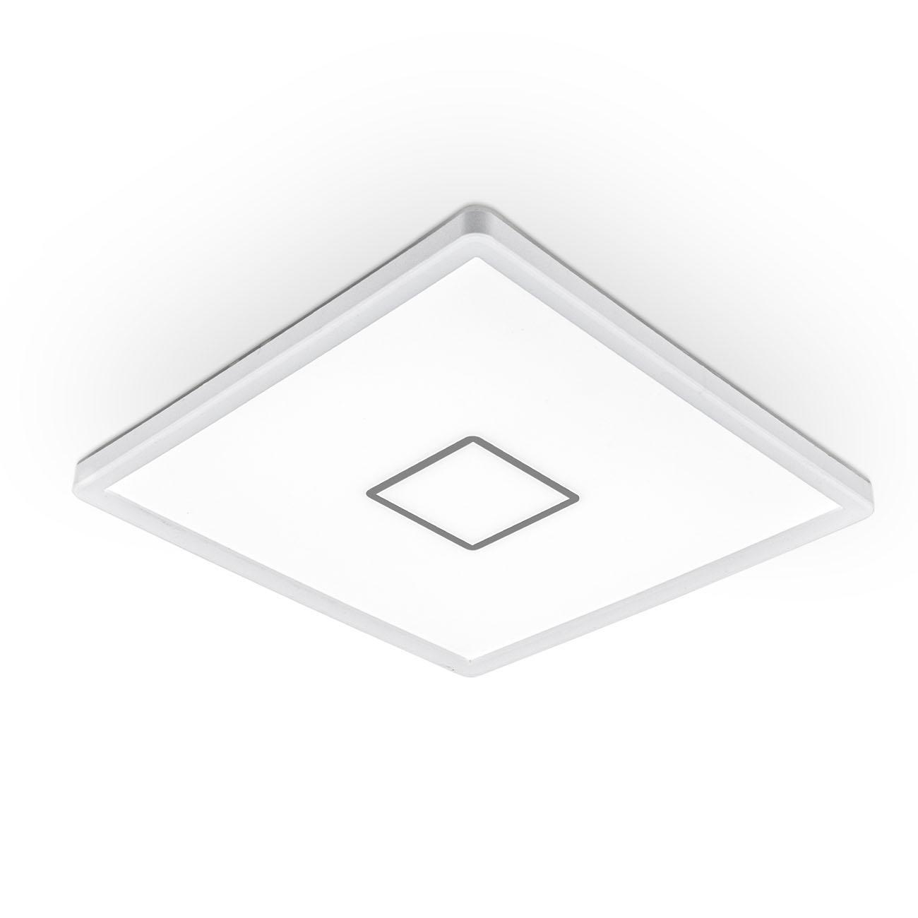 LED Deckenleuchte ultraflach weiß-silber