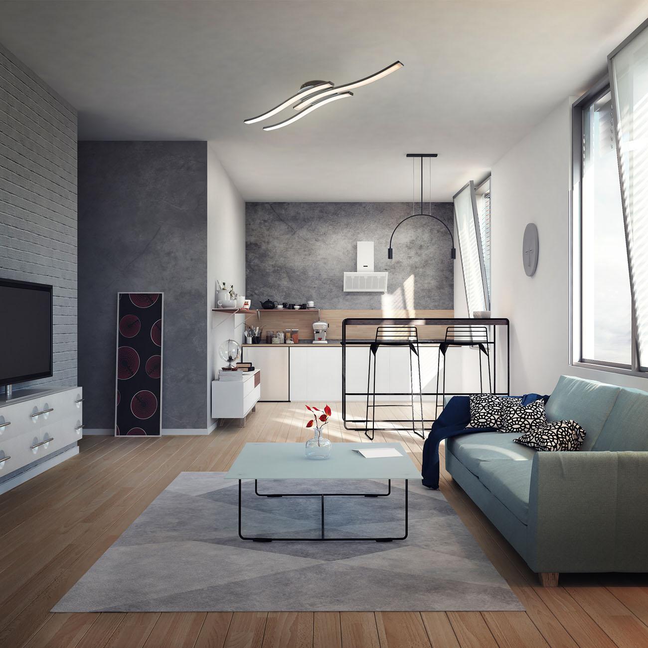 LED Design Deckenleuchte in Wellenform - 4