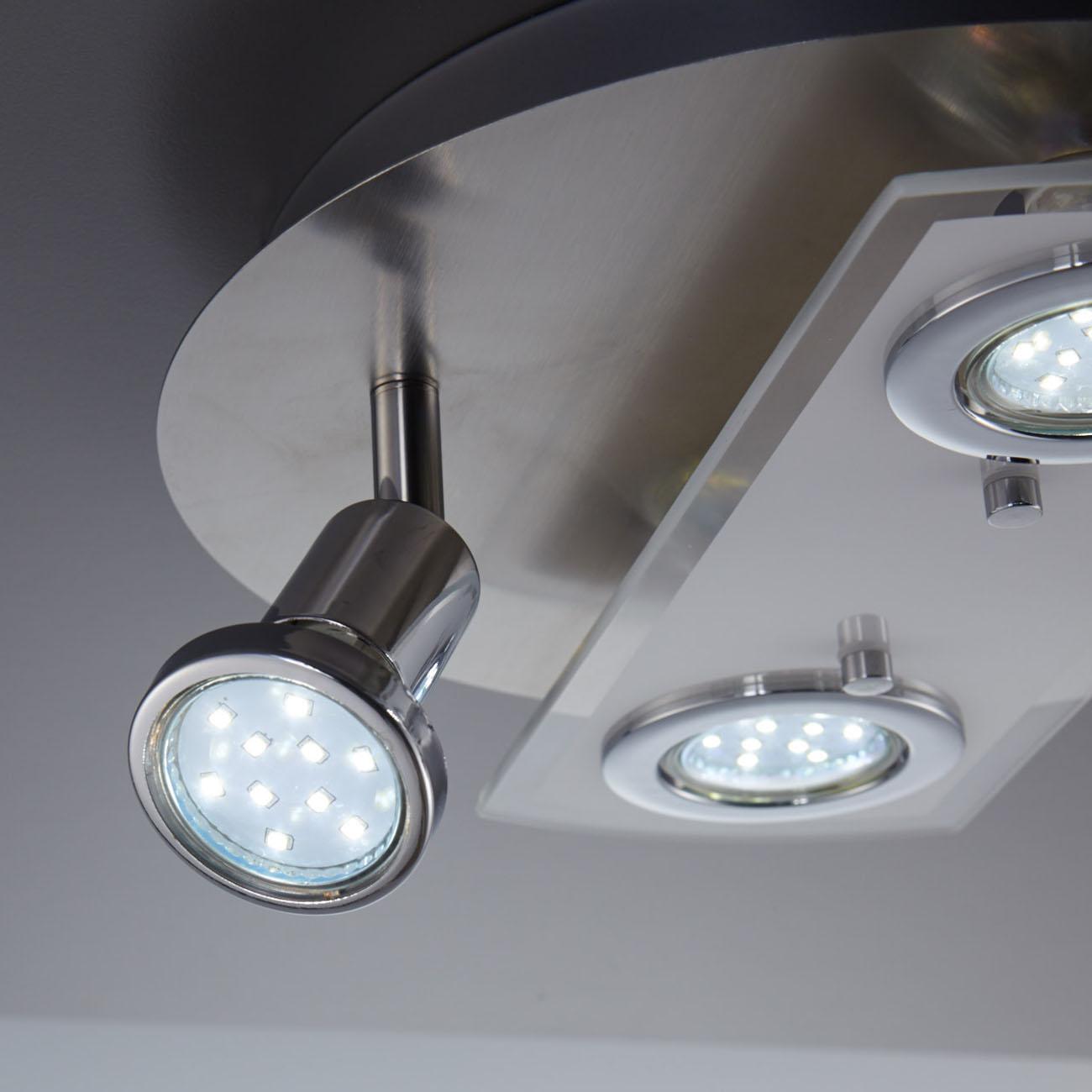 LED Kombi Deckenleuchte Spotleuchte 4-flammig rund - 4