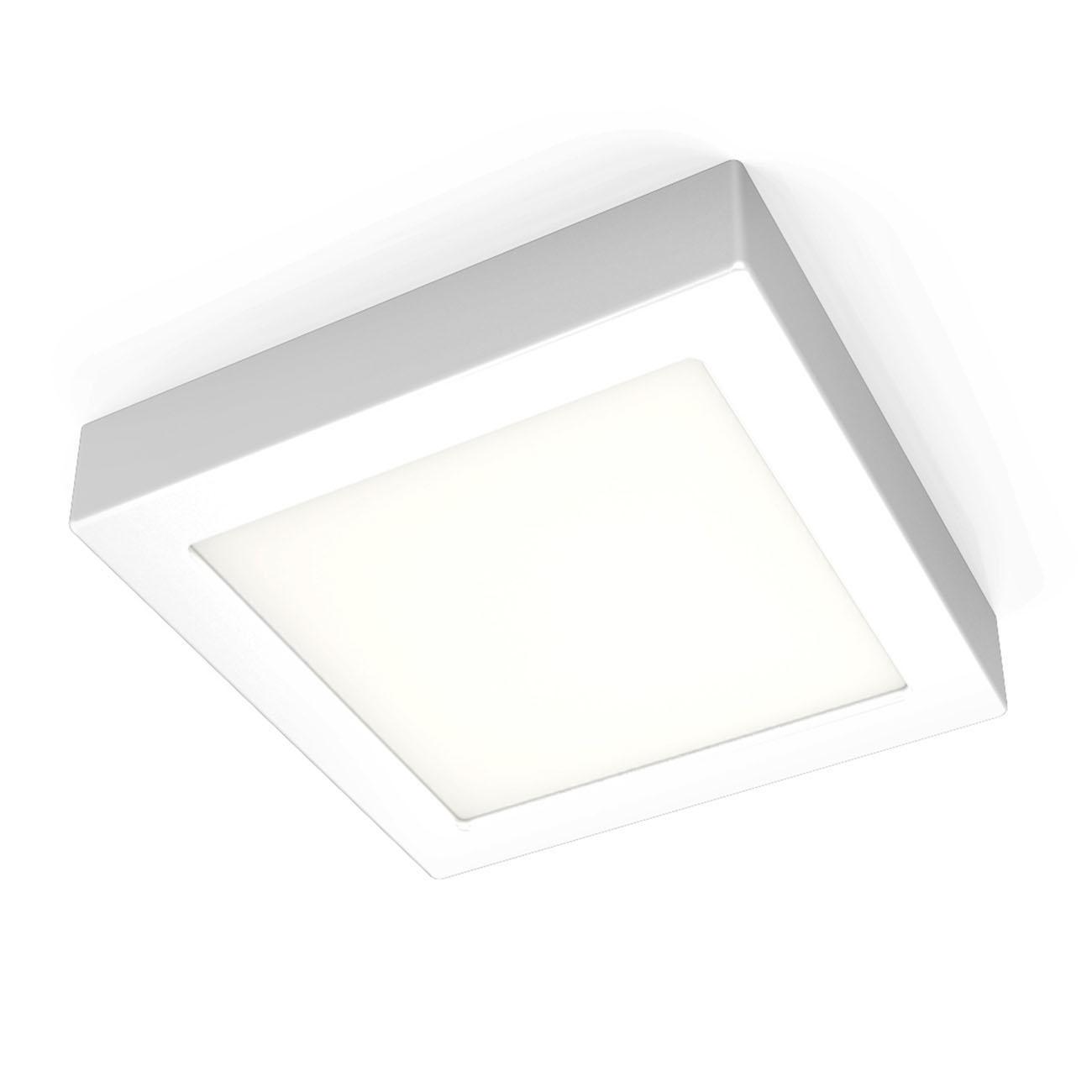 LED Aufbauleuchte Aufputzstrahler eckig weiß
