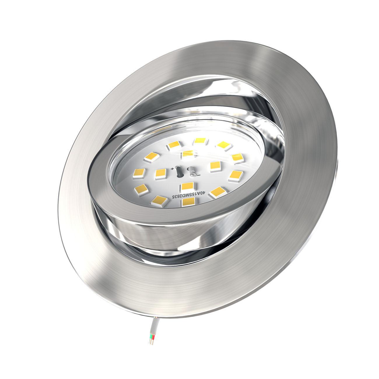 LED Einbaustrahler | Einbauleuchte 5er SET | 5,5W Stufendimmer schwenkbar - 4