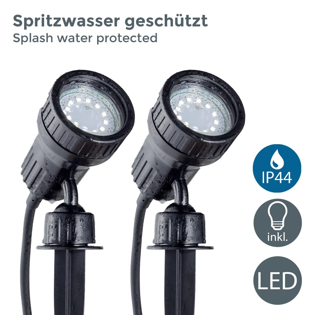 LED Erspieß Gartenstrahler IP44 | 2er Set - 3