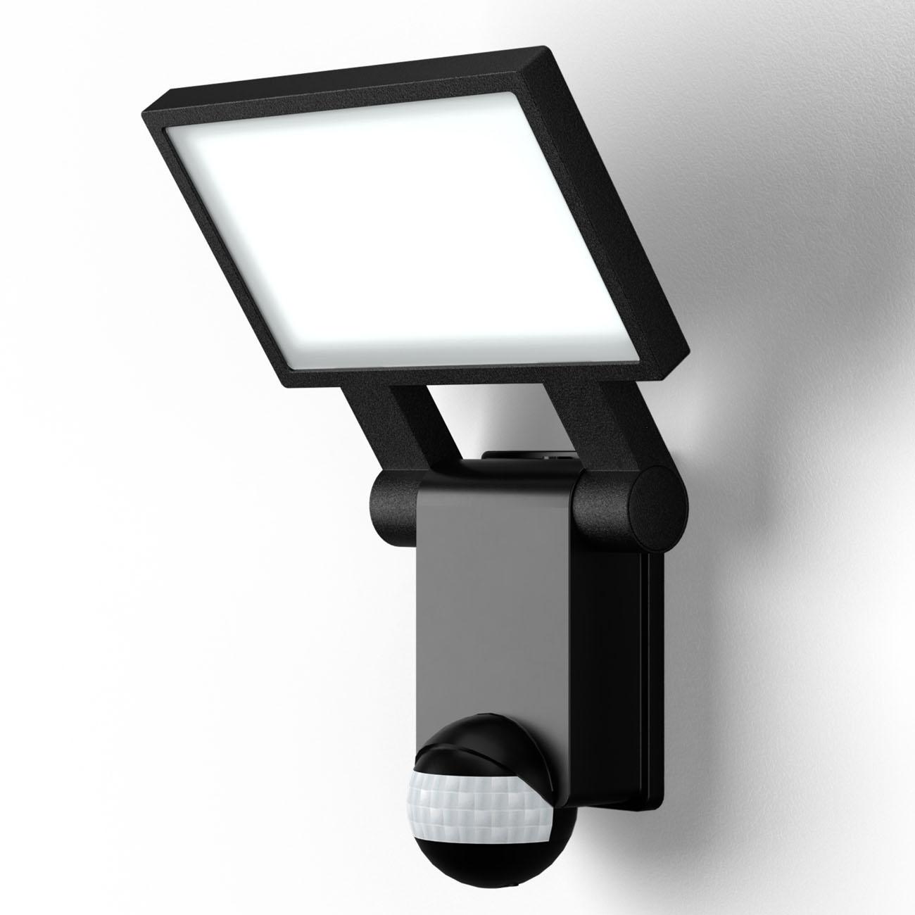LED Außenleuchte mit Sensor schwarz IP44