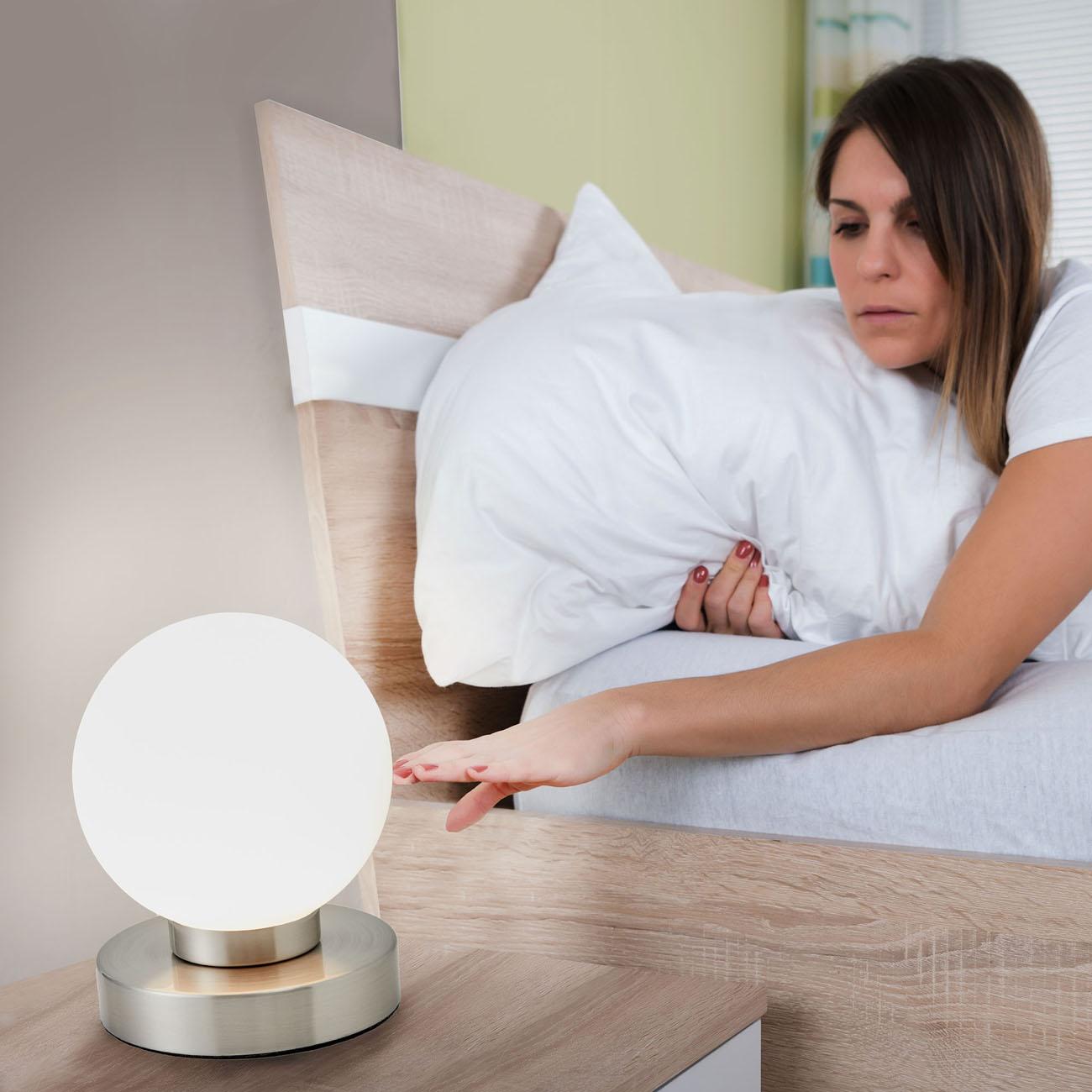 Nachttischlampe mit Touchdimmer Kugel - 4