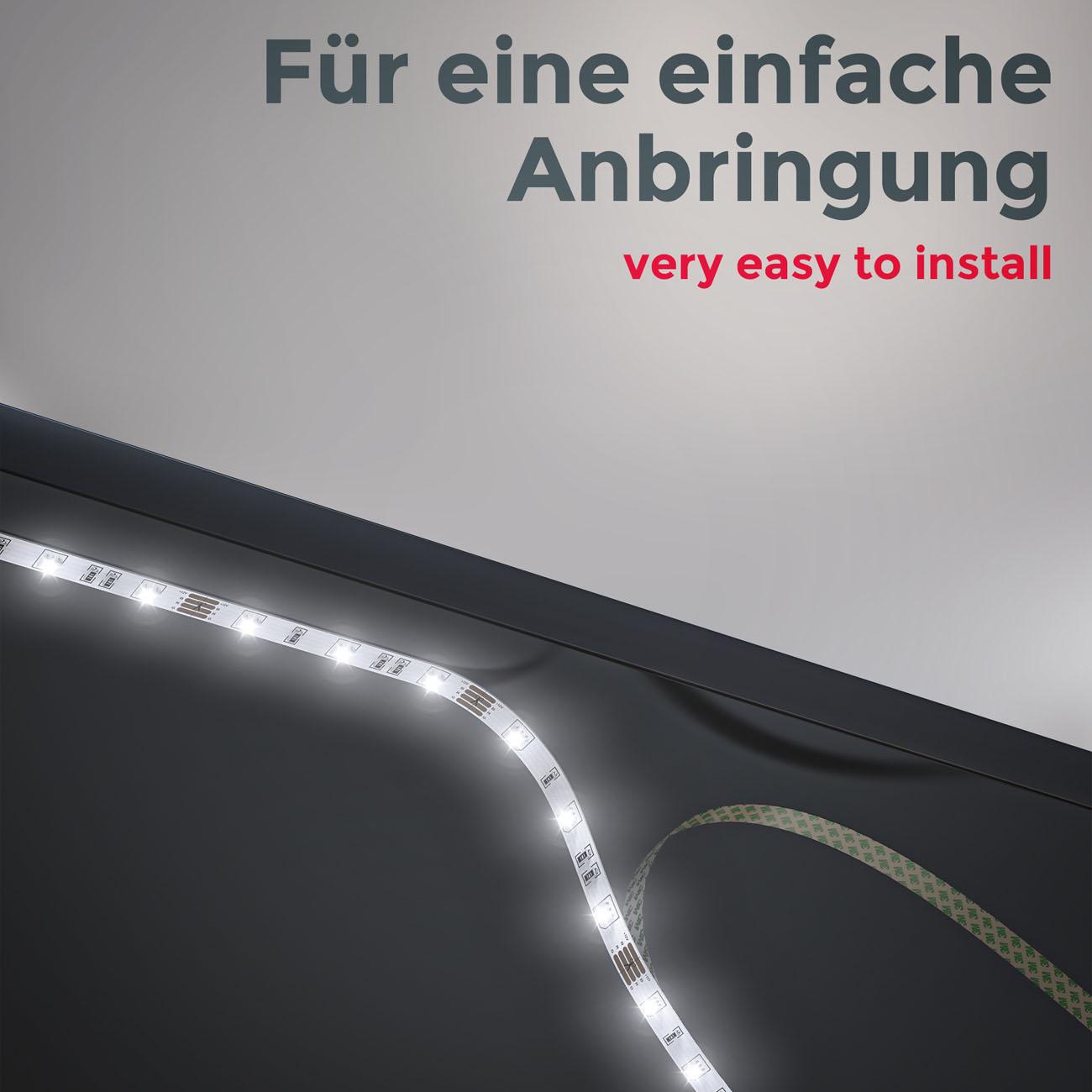 RGB LED Streifen mit Farbwechsel 3m - 8