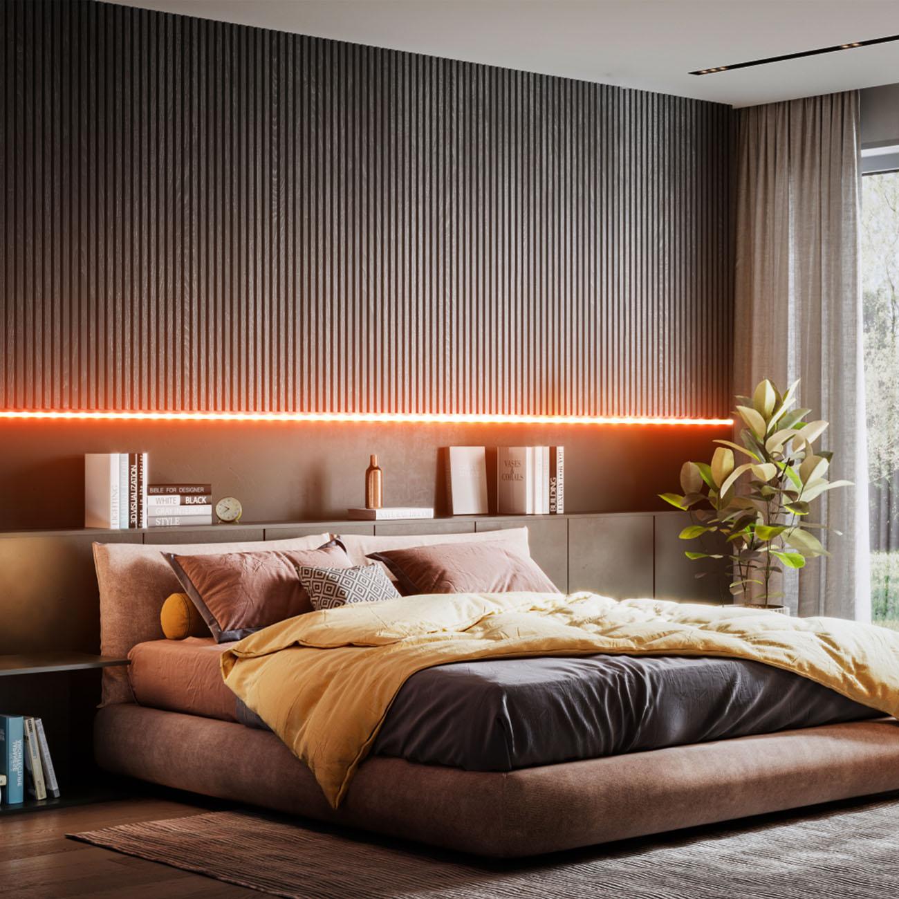RGB LED Streifen mit Farbwechsel silikonbeschichtet 3m - 4