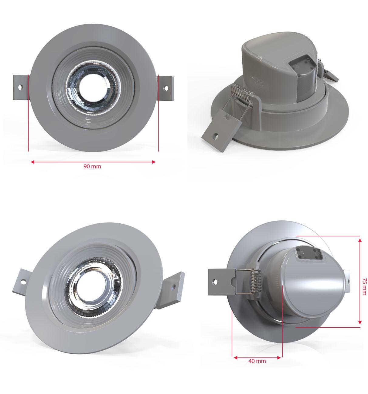 LED Einbaustrahler   Einbauleuchte 5er SET   5W warmweiß - 5