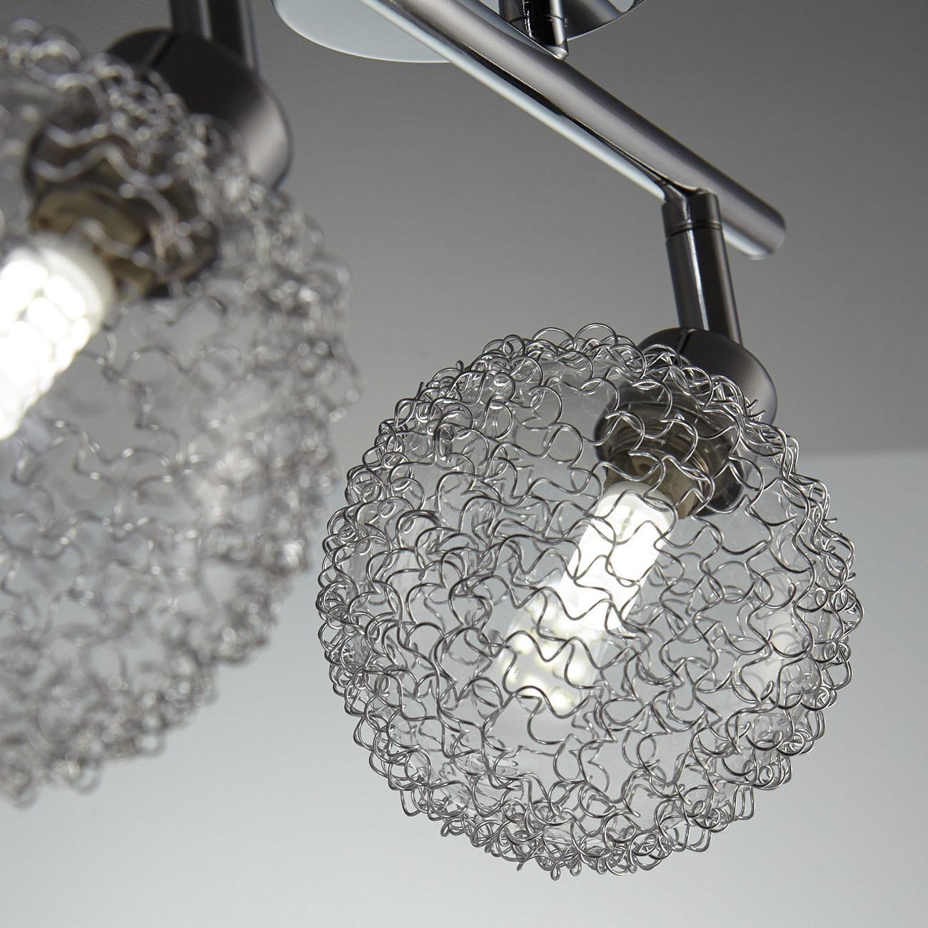 LED Design Deckenleuchte mit Glaskugeln 2-flammig - 5