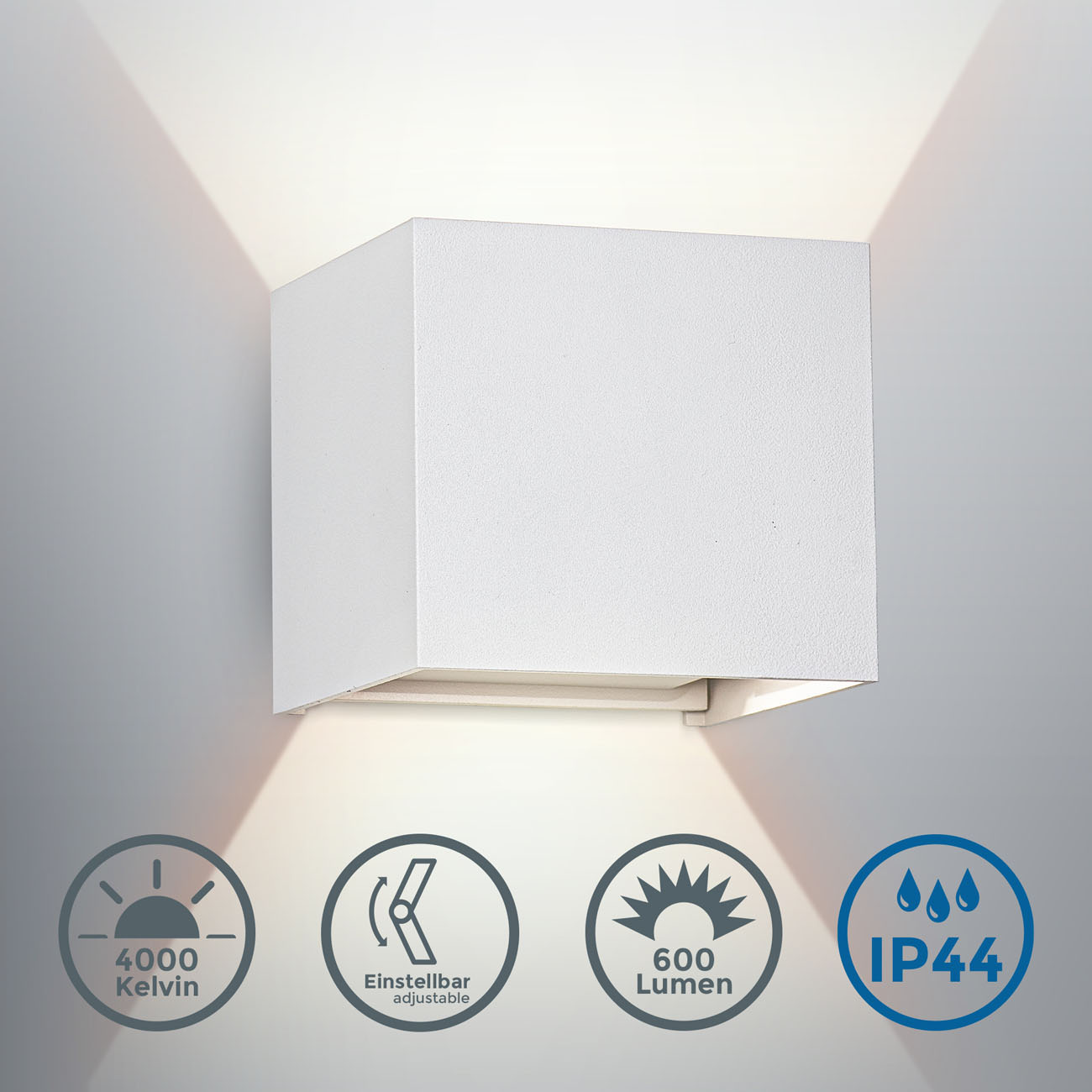 LED Wandleuchte Wandspot für Innen und Außen IP44 - 3