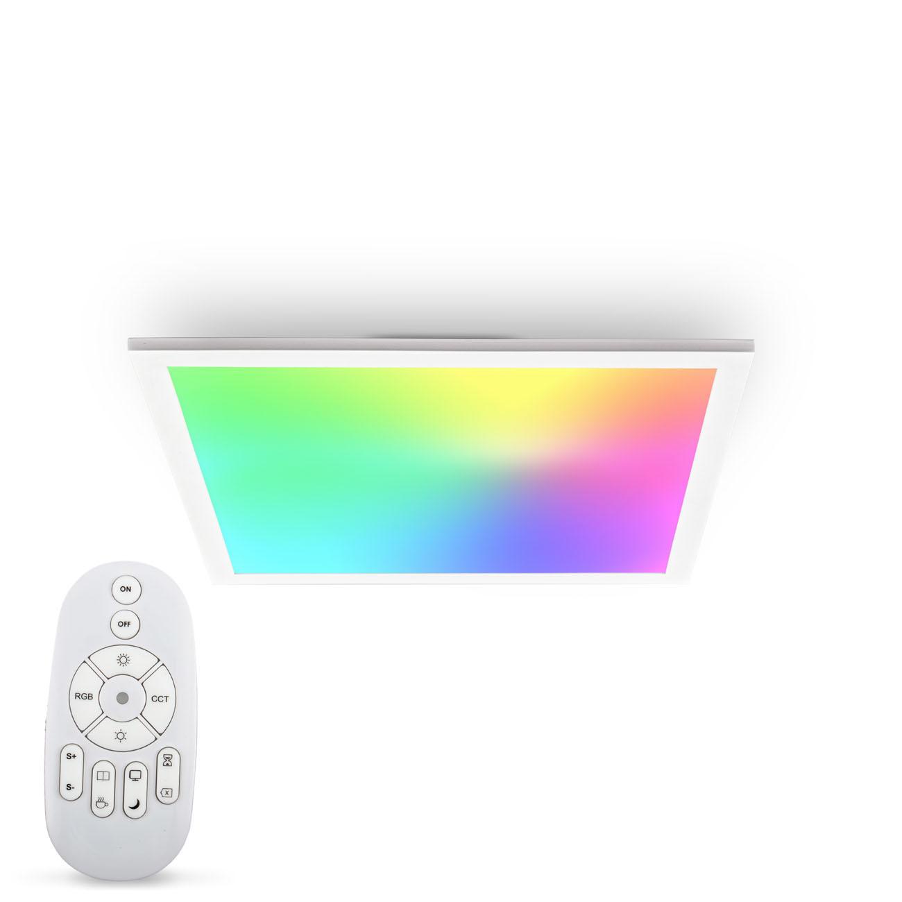 CCT RGB LED Panel Deckenleuchte dimmbar quadratisch - 1