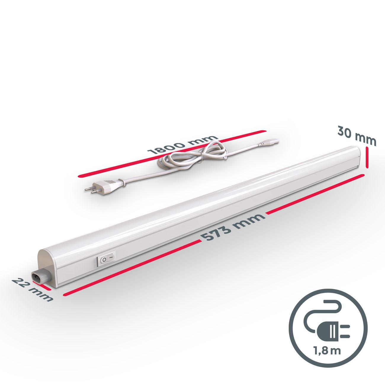 LED Unterbauleuchte mit Verbindungskabel weiß M - 10