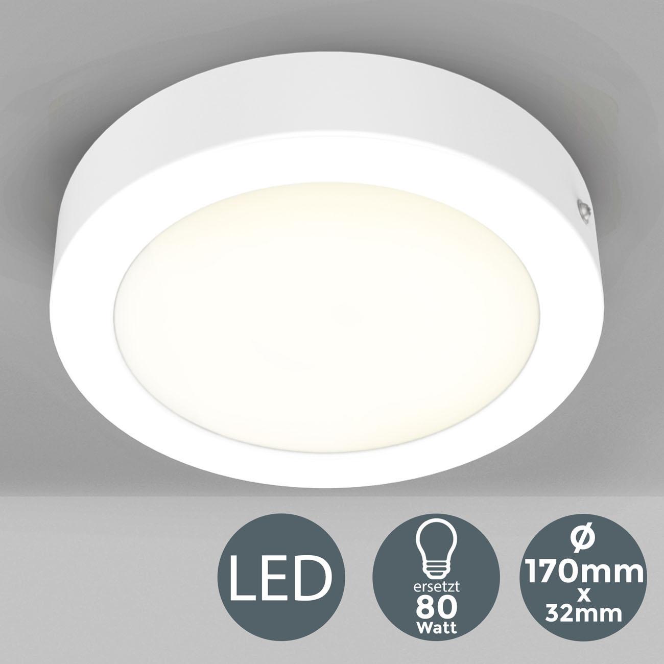 LED Aufbauleuchte Aufputzstrahler rund weiß - 3