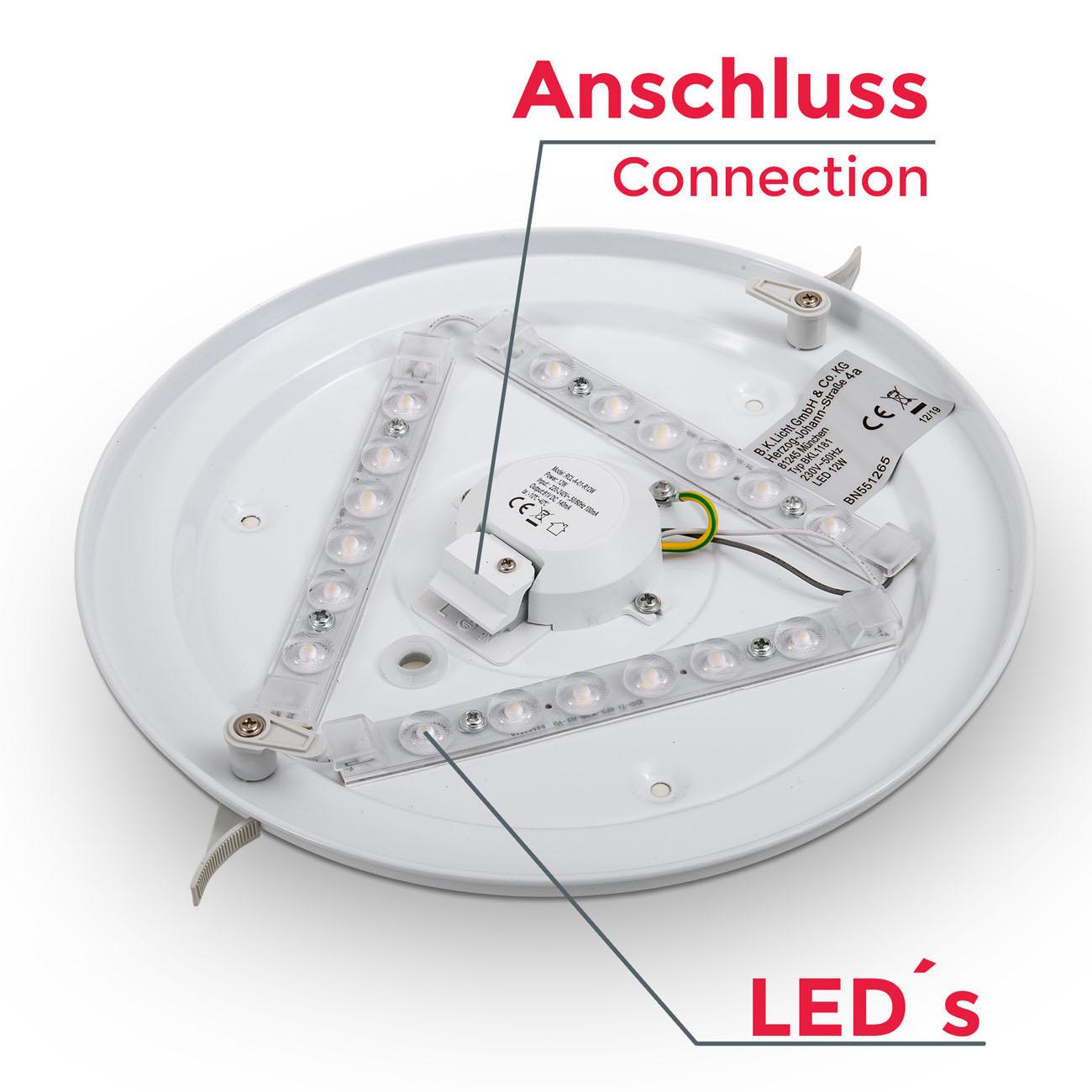 LED Deckenleuchte in weiß rund - 4