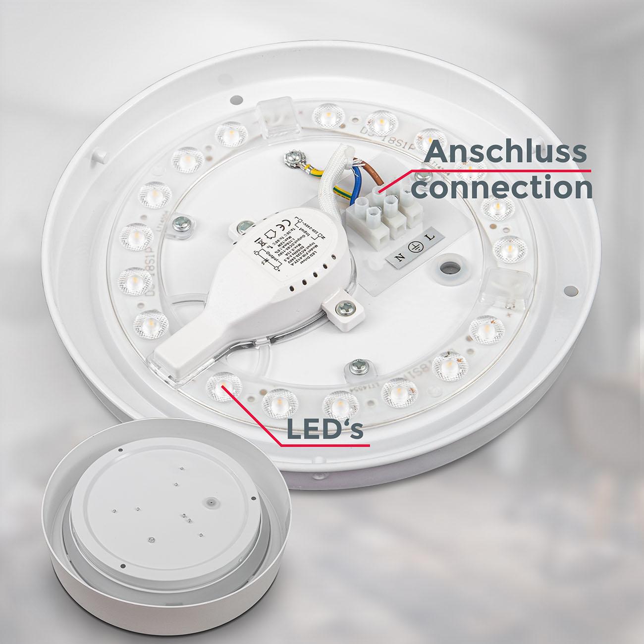 LED Deckenlampe neutralweiß rund  - 4