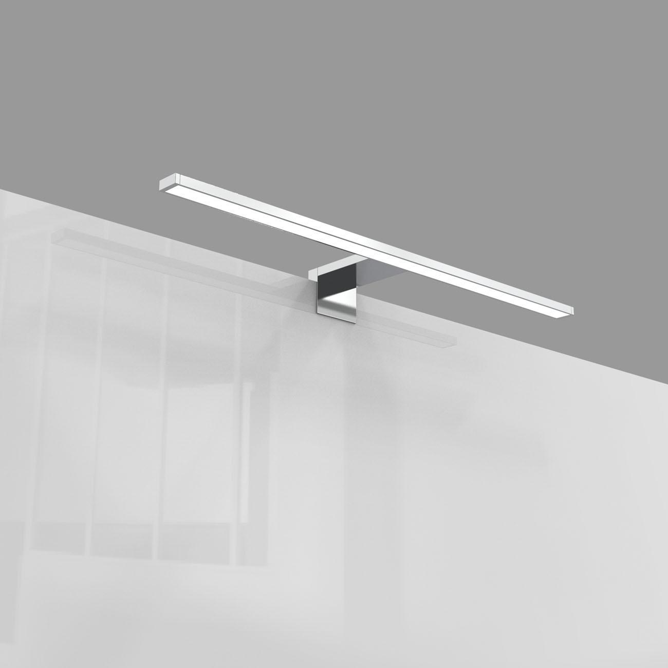 LED Spiegelleuchte Badlampe IP44 neutral-weiß M chrom - 8