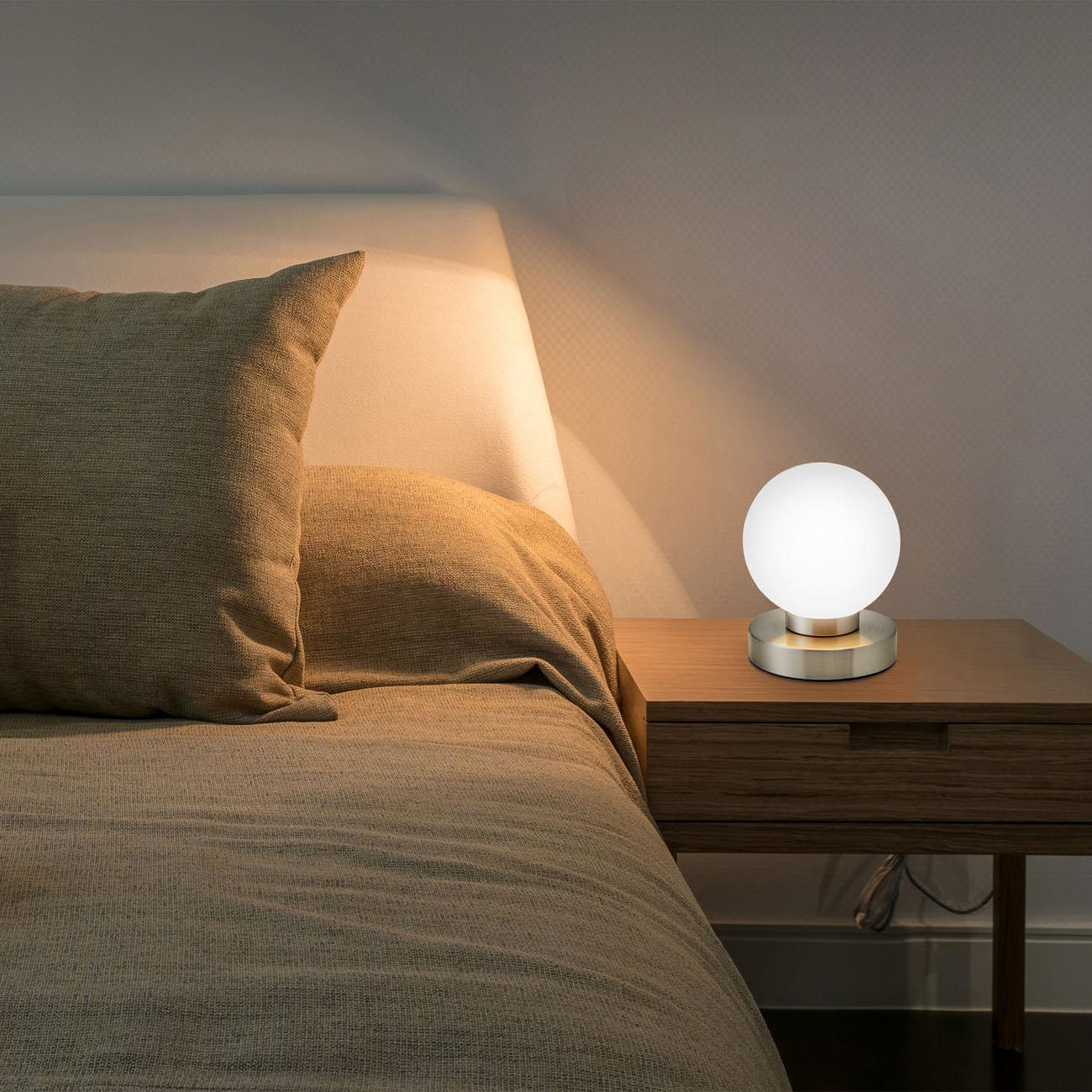 Nachttischlampe mit Touchdimmer Kugel - 2