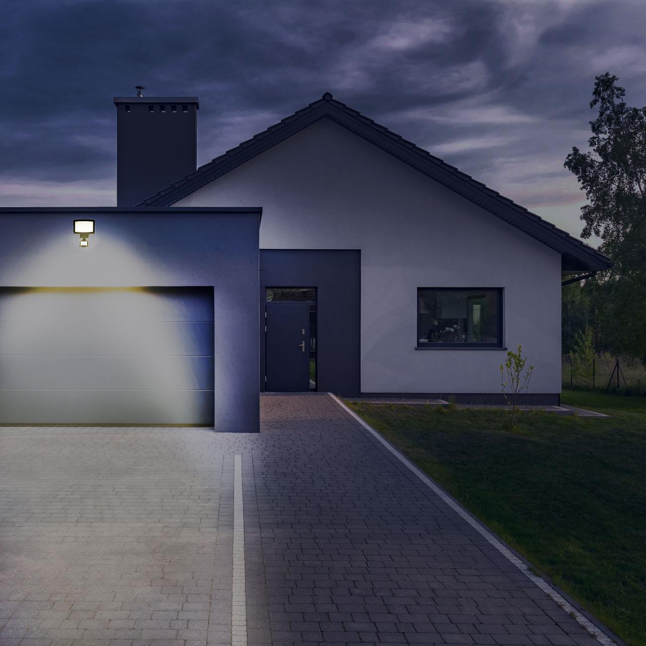 LED Außenstrahler mit Bewegungsmelder IP44 schwarz - 9
