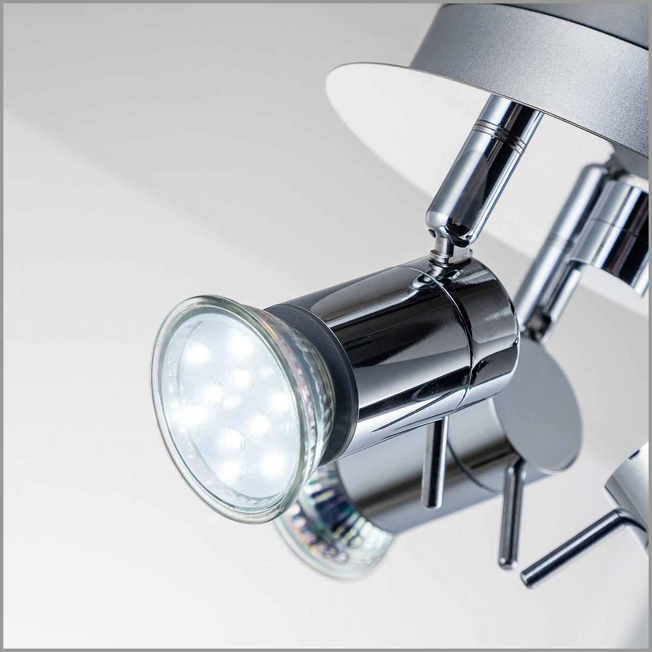 LED Deckenleuchte Badleuchte 3-flammig IPP44 glänzend - 5